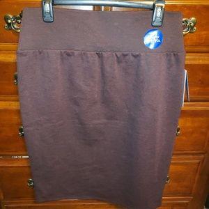 Burgundy/maroon/purple skirt NWT